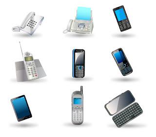 携帯電話のクリップアート mobile phone イラスト素材