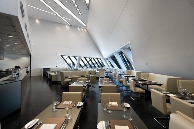 Royal Ontario Museum by Studio Daniel Libeskind interior, restaurant