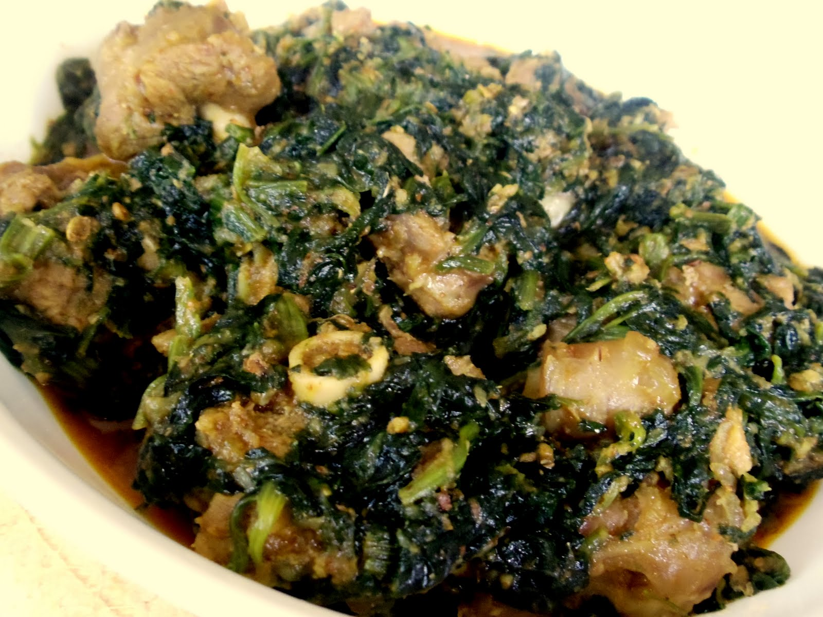 The food I cook...: Palak Gosht (Spinach with lamb meat)
