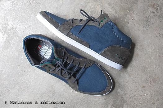 Piola Sneakers toile bleu gris