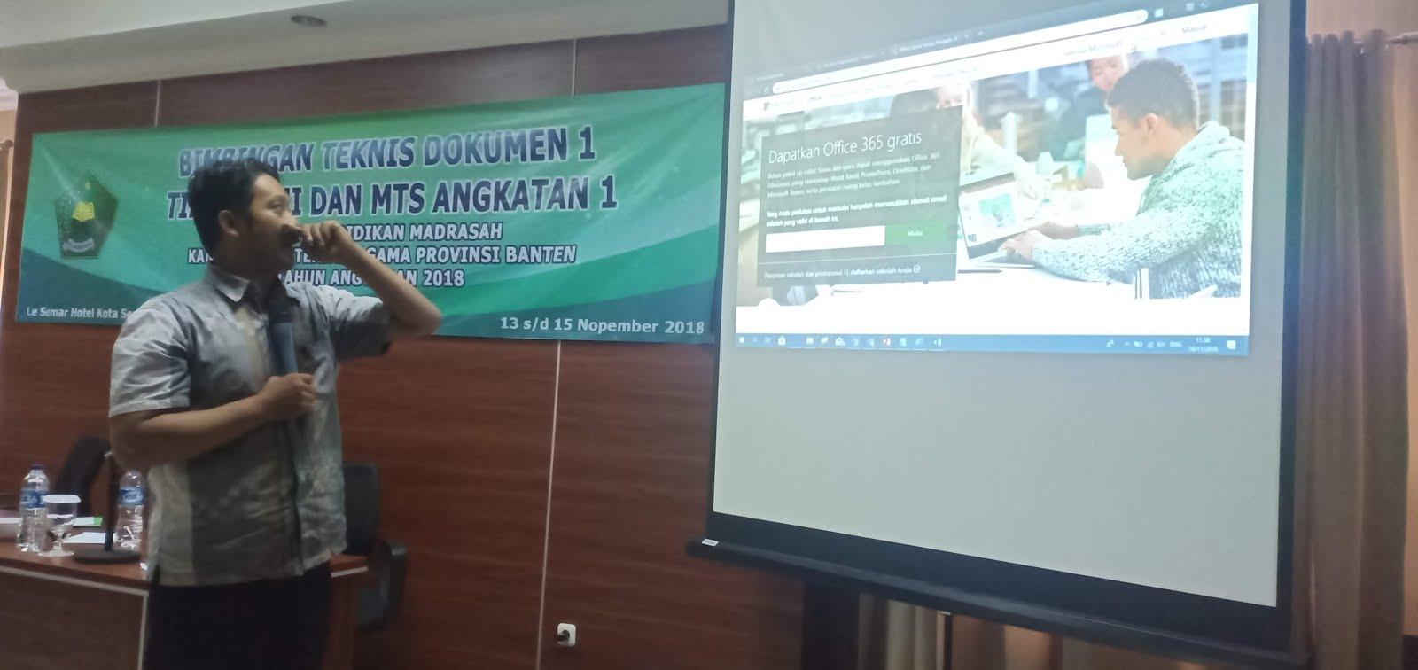 Workshop Office 365 Education, Serang
