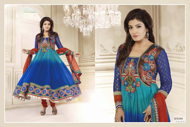 New Arrival Heavy Neck Embroidered Anarkali Suit
