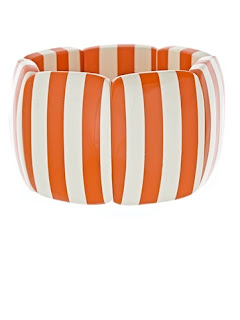 White & Orange Two Stripe Bracelet