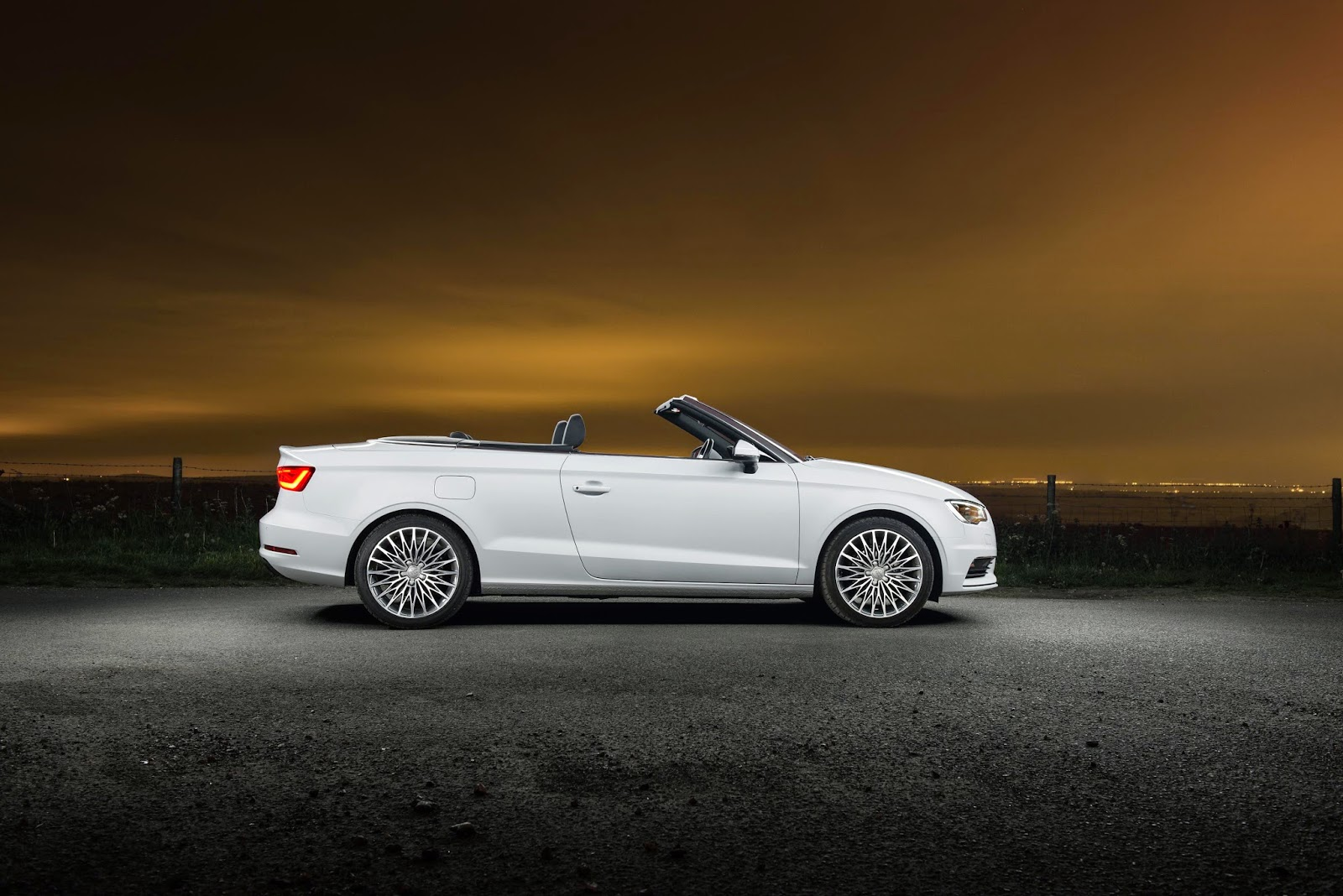 White Audi A3 Convertible