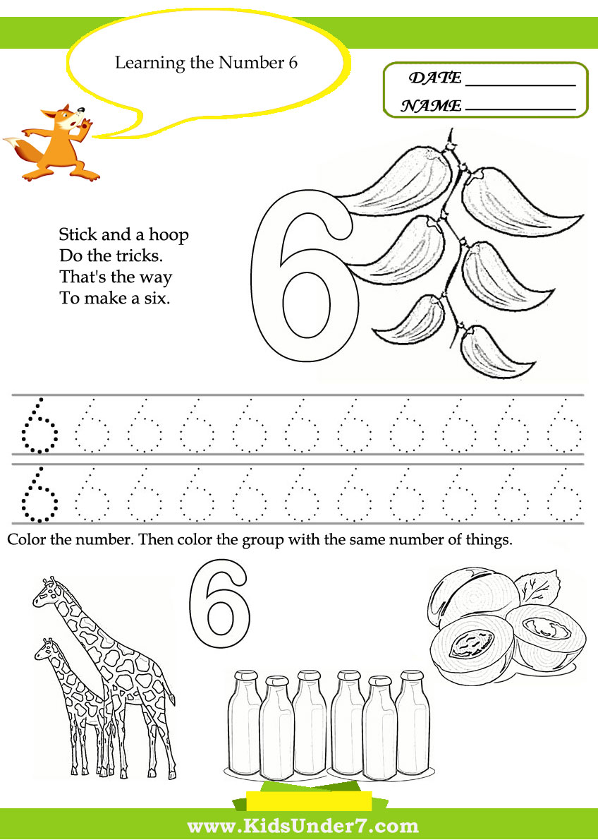 math worksheet : kids under 7 free printable kindergarten number worksheets : Free Kindergarten Number Worksheets