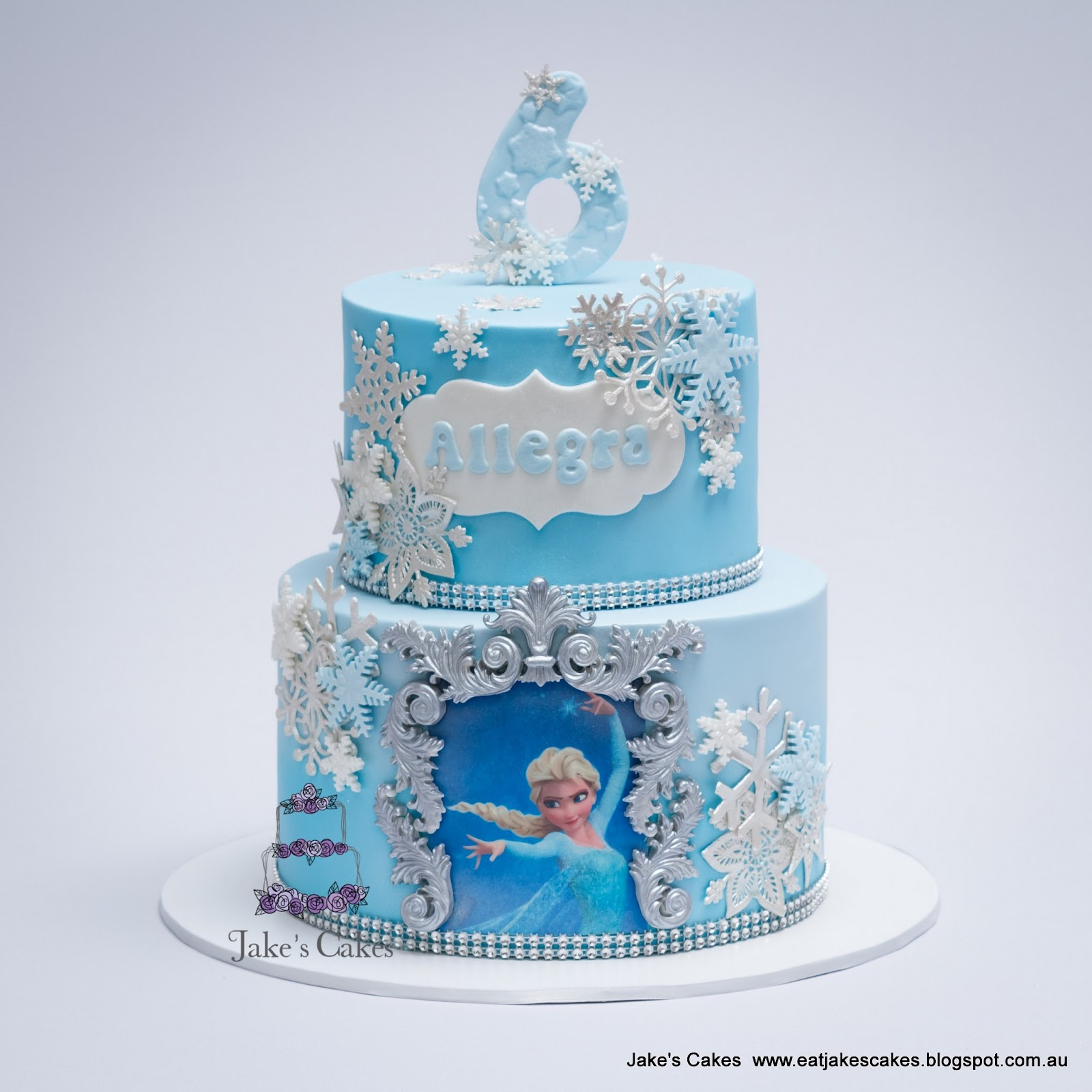watermarked Frozen+Snowflakes 2 birthday cakes perth 6 on birthday cakes perth