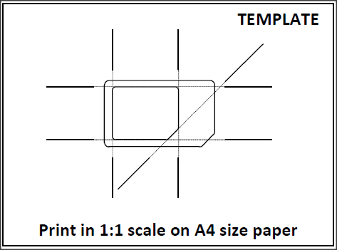 Sim Cutting Template Letter Size