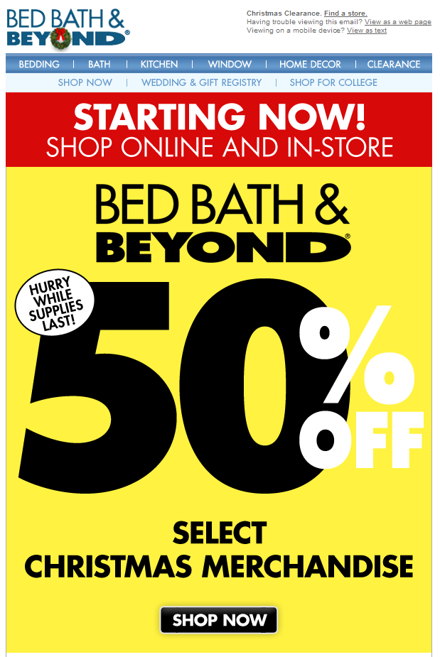 Bed bath and beyond online discount coupon codes