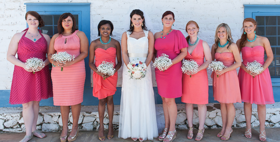 turquoise jewelry, turquoise bridesmaid jewelry, coral bridesmaid dresses