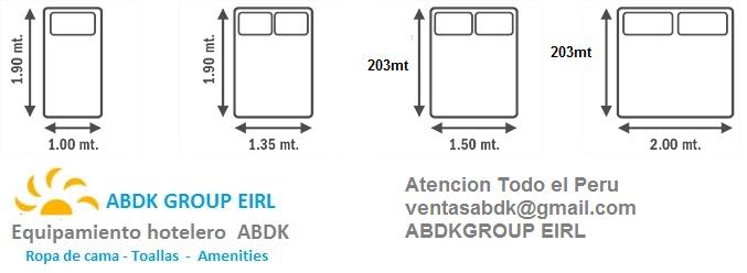 Abdk hoteleria equipamiento medidas de sabanas for Medida estandar de colchon de una plaza