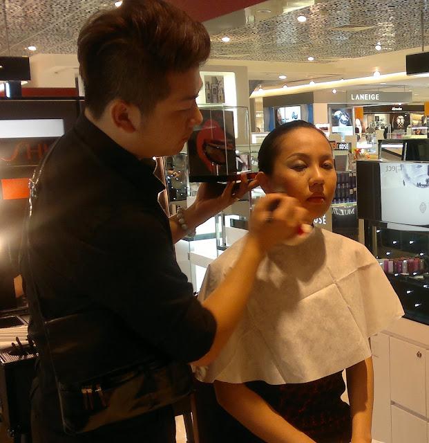 Shiseido make up master class Metro Paragon Singapore