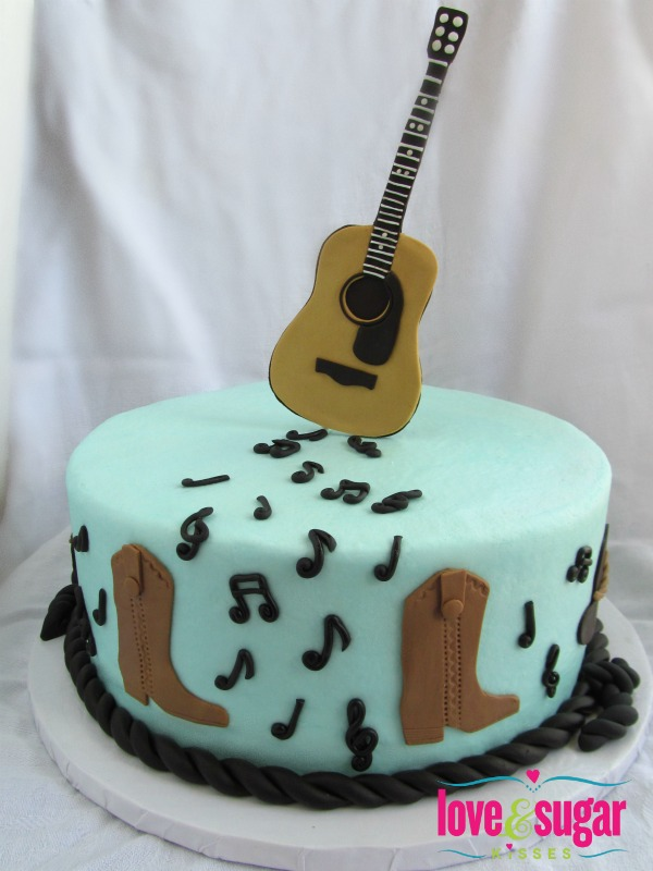 countrycake1 Wedding Inspiration: Musical Grooms Cakes