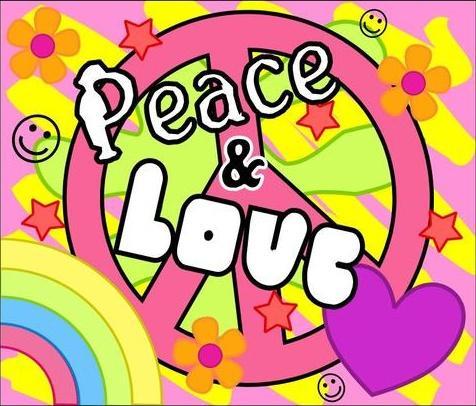amor y paz. paz y amor.