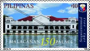 Philippine: Malacanan Palace 150 years Sesquicentennial - http://www.phlpost.gov.ph/