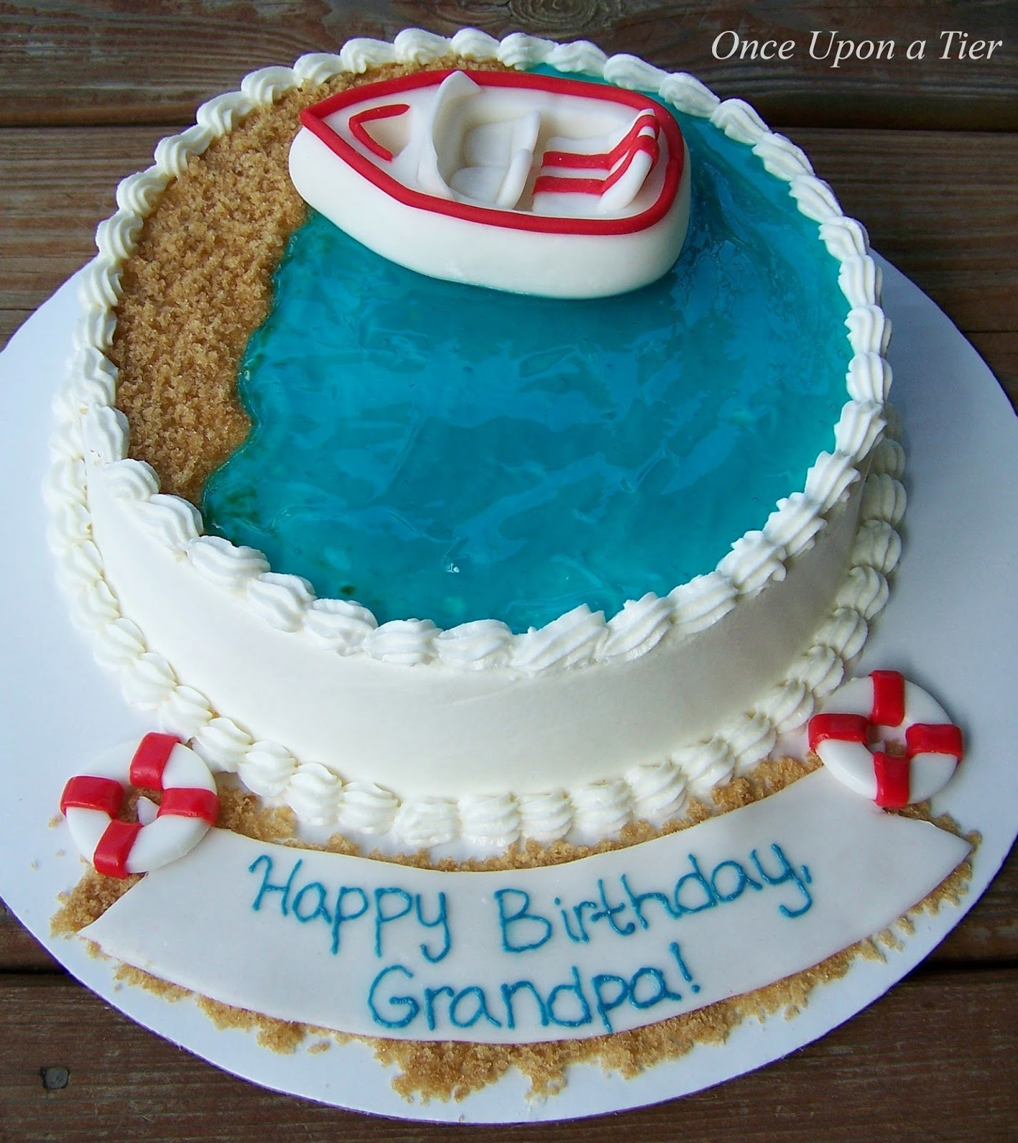 Once Upon A Tier Grandpas Birthday Cake