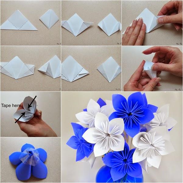Цветы из обычной бумаги видео