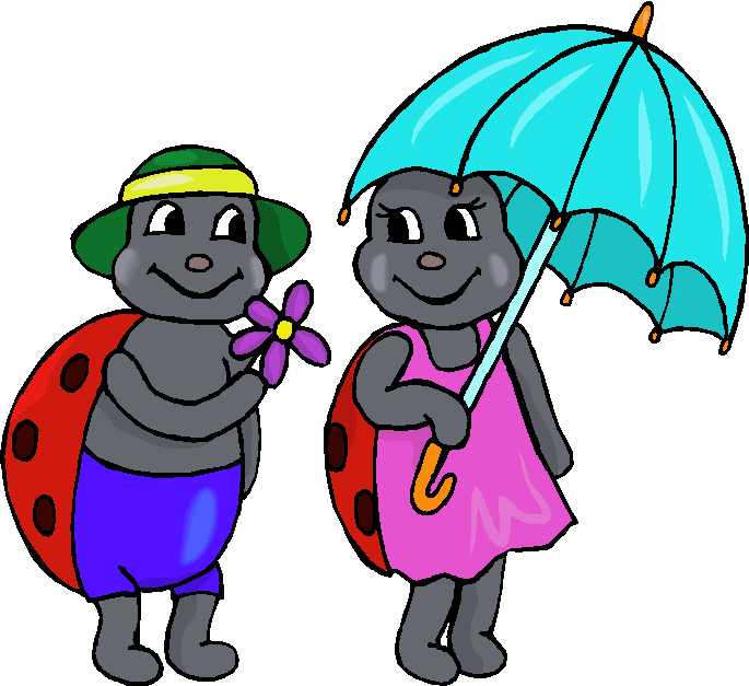 A Pair of Ladybugs Free Clipart