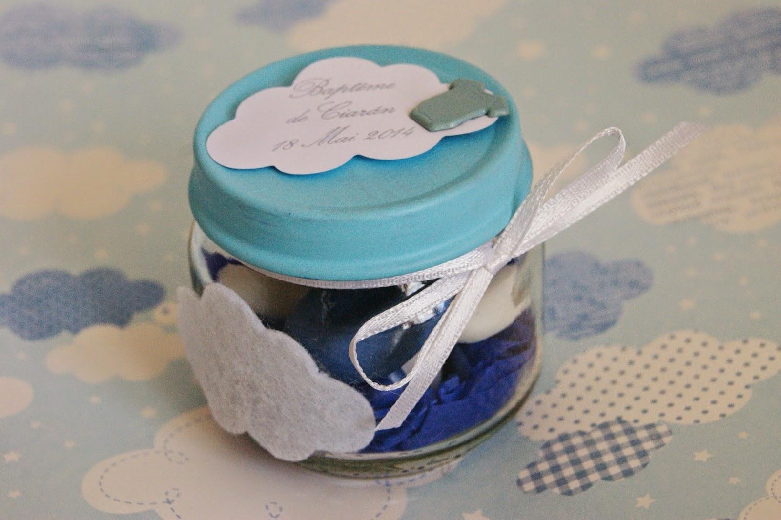 Berühmt ☆Des Magnolias sur ma voie lactée☆: Baptême blanc/bleu thème  TO86