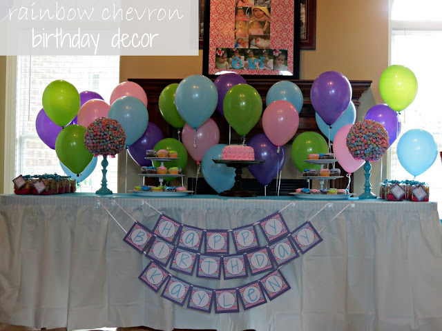 Rainbow Chevron Birthday