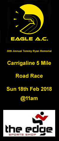 Popular 5 mile race in Carrigaline... Sun 18th Feb 2018