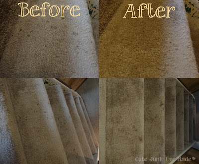 Miracle Carpet Cleaner Before and After