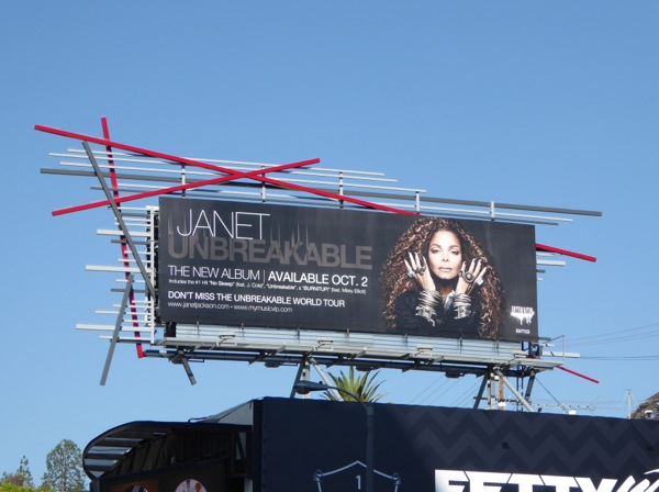 Janet Jackson Unbreakable album billboard