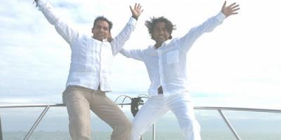 Los hermanos Raúl y Armando Araiza esparcieron las cenizas de su padre