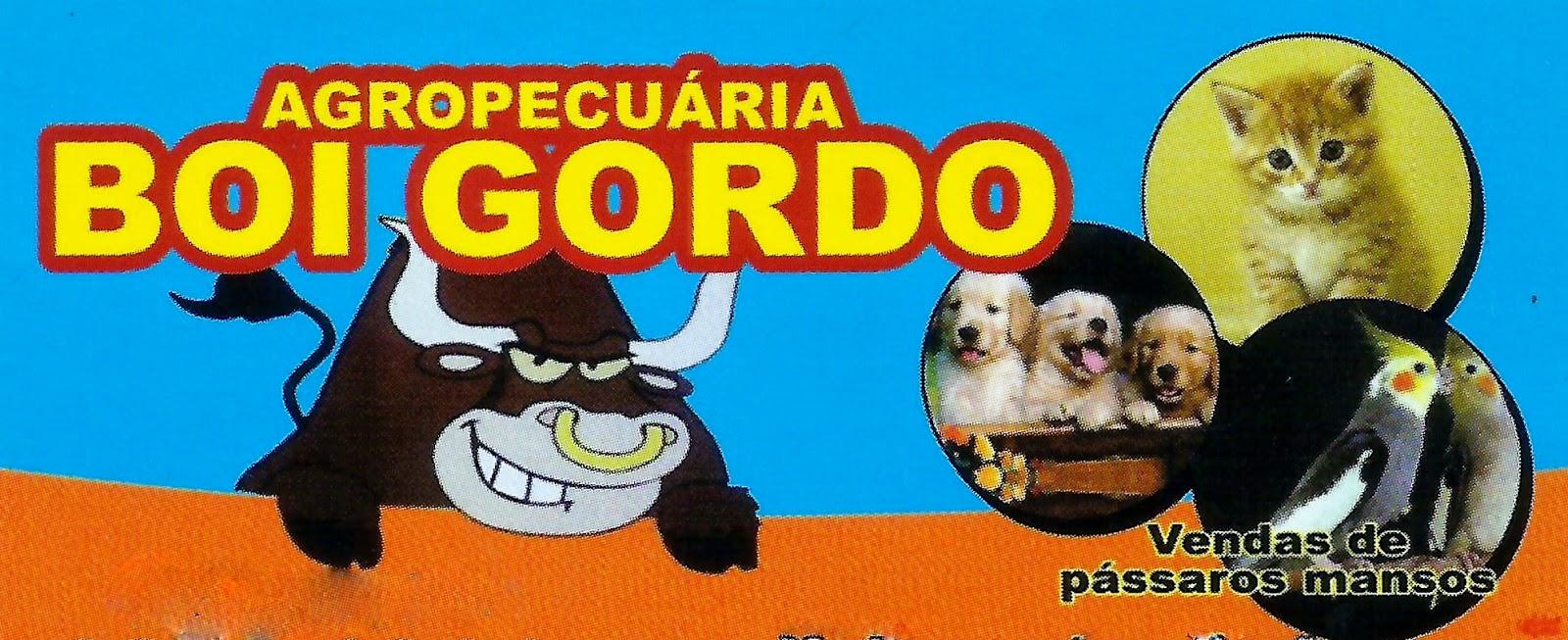 AGROPECUÁRIA BOI GORDO Rua. Nossa Senhora das Dores, 244 Centro - Sarapuí - SP tel: (15) 3276-1314 / 99734-5916