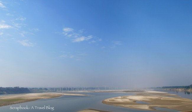 River Ganga and the sandy riverbed on the way to Vindhyachal