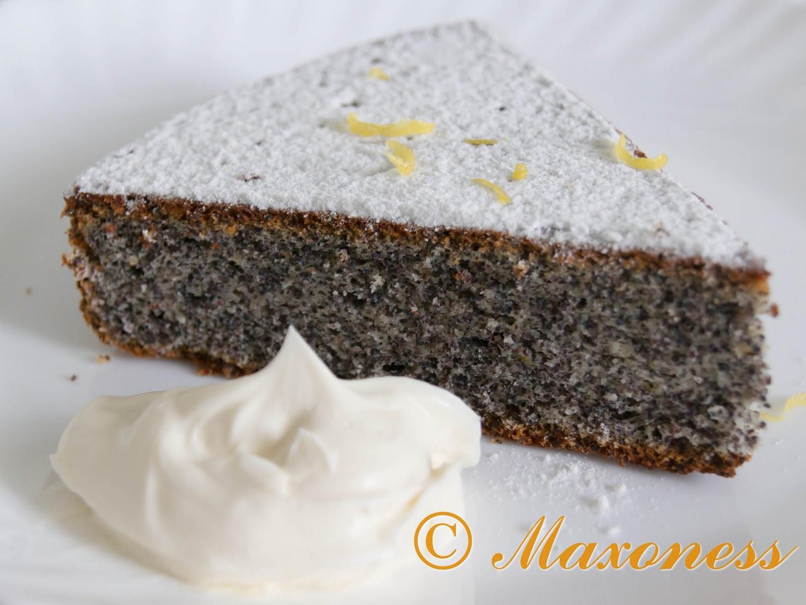 Маковый торт. Восточноевропейская кухня.