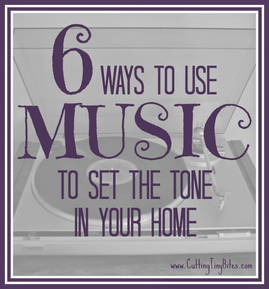 Music can change the mood in your home! Use it to your advantage!