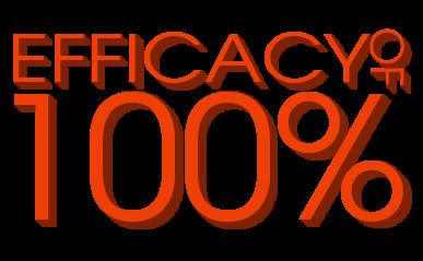 100% of efficacy