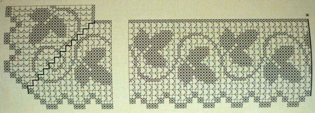 Филейное вязание кайма для рушников