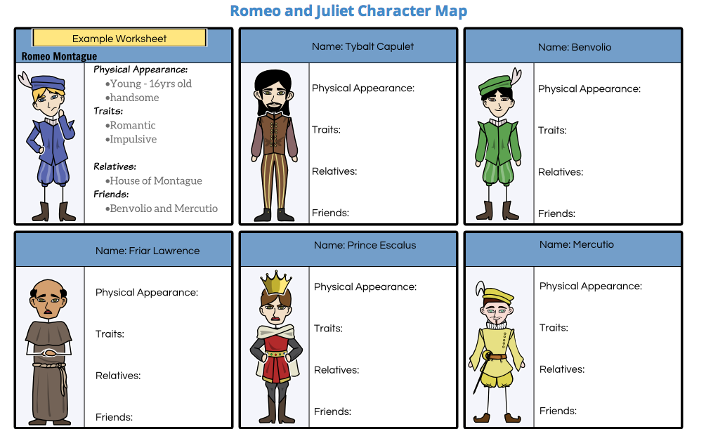 list of literary elements in romeo and juliet act 2 scene 4 About romeo and juliet character list summary and analysis act i:  prologue act i: scene 1 act i: scene 2 act i: scene 3  summary and analysis  act ii: scene 4  mercutio leaves with benvolio, and romeo tells the nurse that  juliet should meet him at friar laurence's cell at 2 pm that afternoon to be  married.