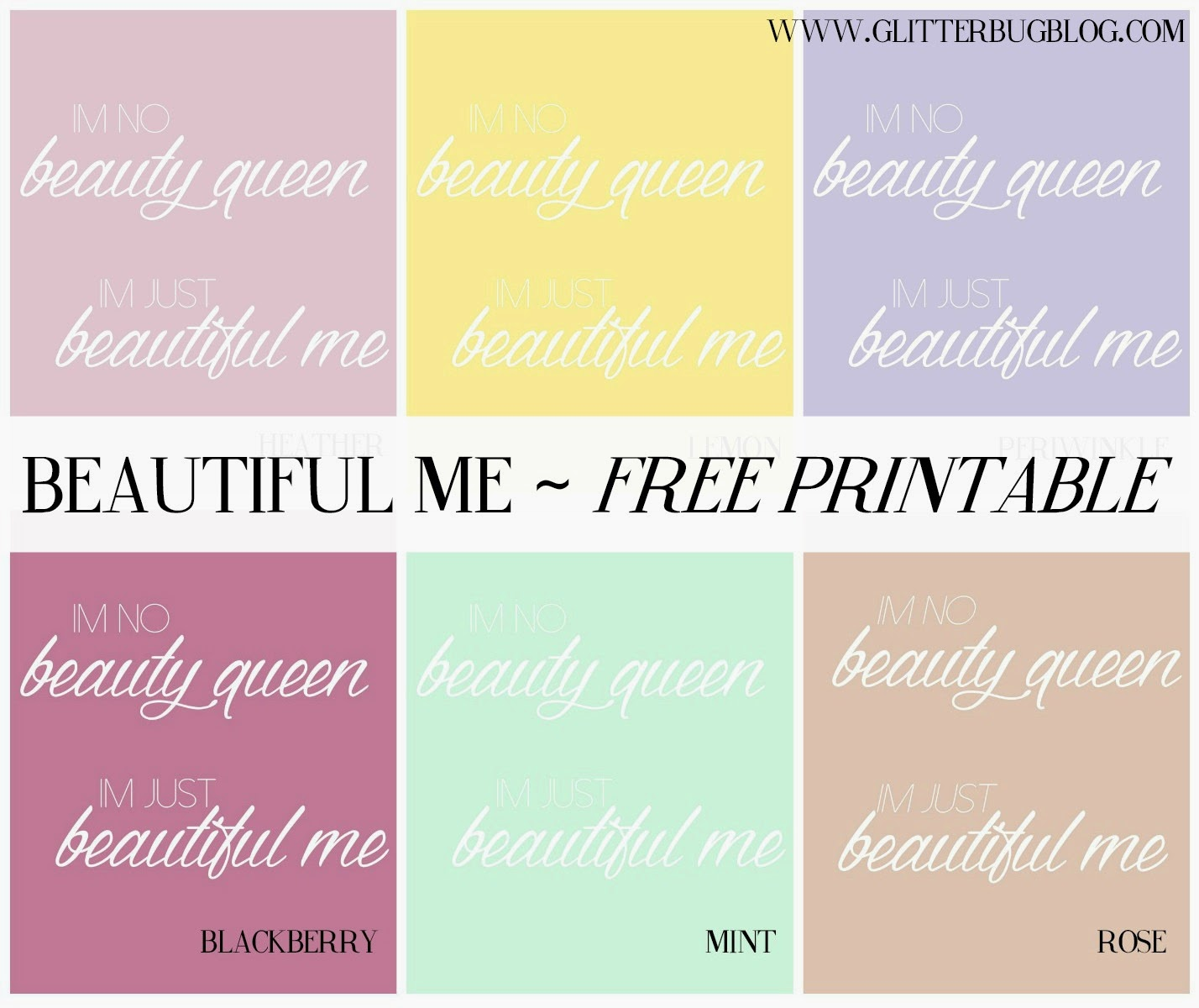 Beautiful Me Printable