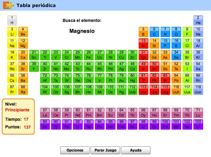 Fsica y qumica de 3 eso situando elementos en la tabla peridica httpeducaplusplay 188 tabla urtaz Images