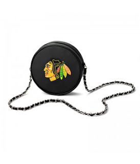 Chicago Blackhawks NHL Hockey Puck Crossbody Bag