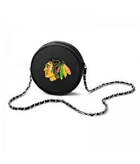Chicago Blackhawks NHL Hockey Puck Crossbody Bag