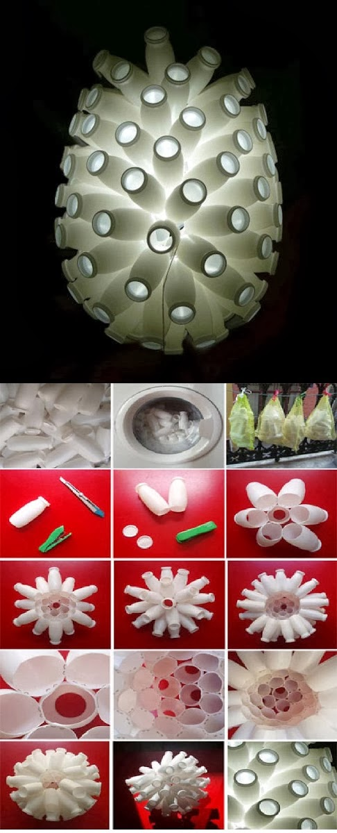 Make a Lampshade From Yogurt Bottle