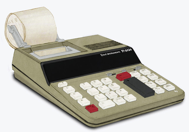 calculadora, Texas instrument, dibujo