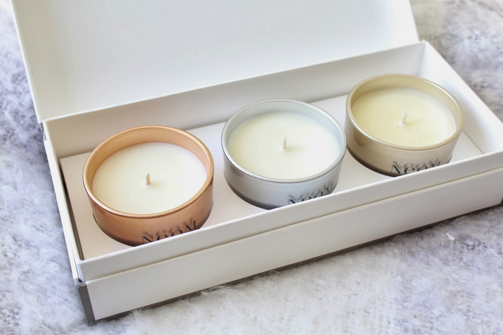 The Neom Scents of Christmas Candles