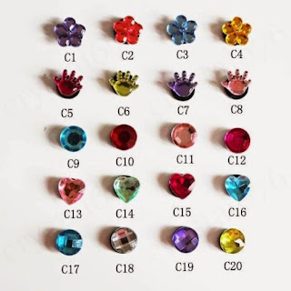 Multiple Choice Fashion Crystal Shoe Charms Fit For Jibbitz Crocs Kid's Gift