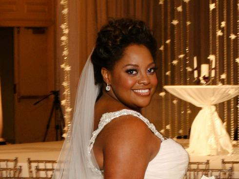 Sherry Shephard Wedding Hairstyle