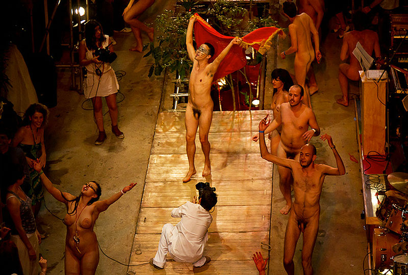 Naked circus performers nude