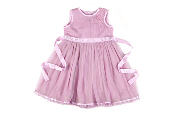 صورة فستان صيفي مزين بحزام وسطي لونه يناسب كامل اللون