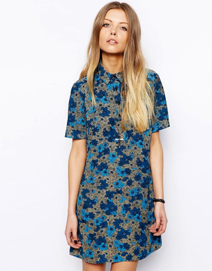 asos print dress