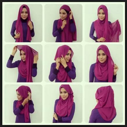 Tutorial Hijab Modern Remaja Gambar Tutorial Hijab ...