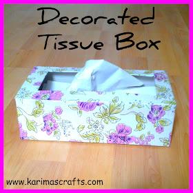tissue box makeover