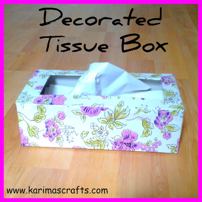 tissue box makeover