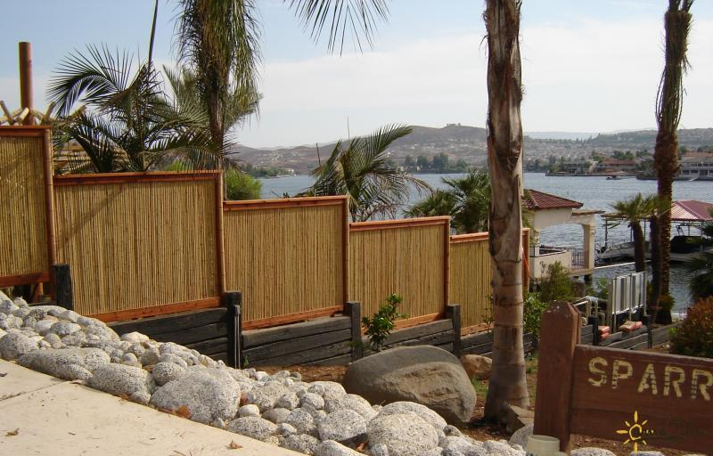 Bamboo outdoor privacy screen fence bamboo products photo for Outdoor bamboo screen panels